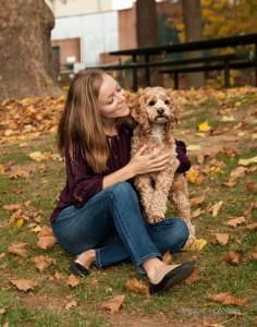senior photos and pets