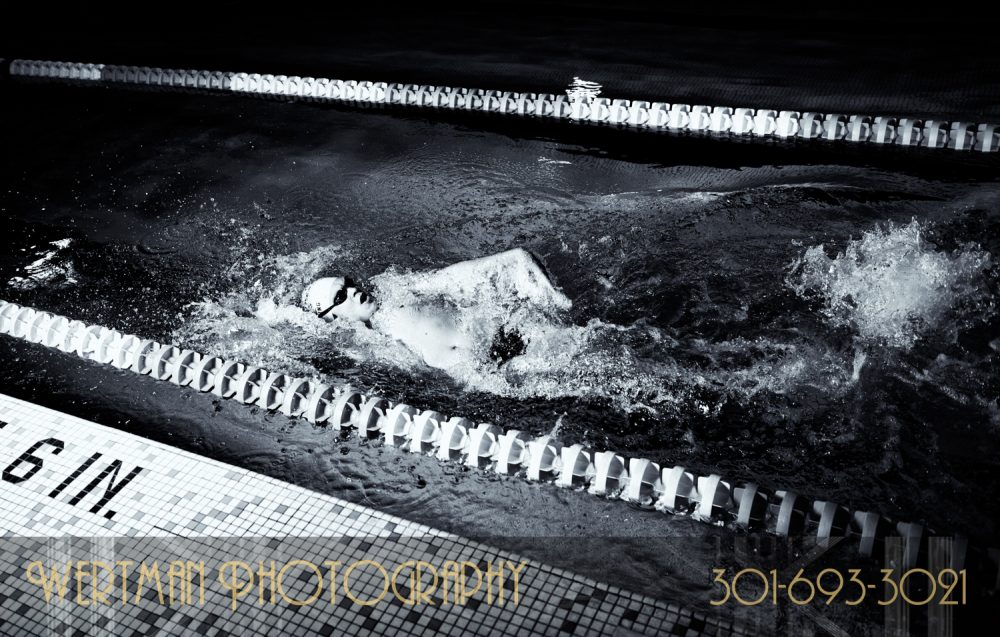 male swimmer back stroke