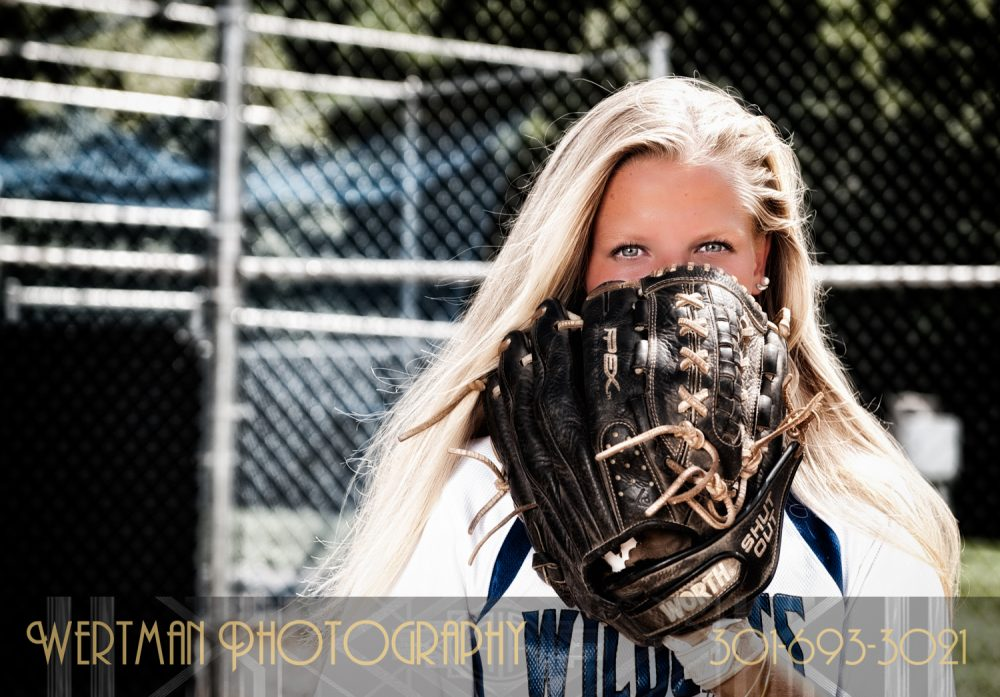 senior softball girl