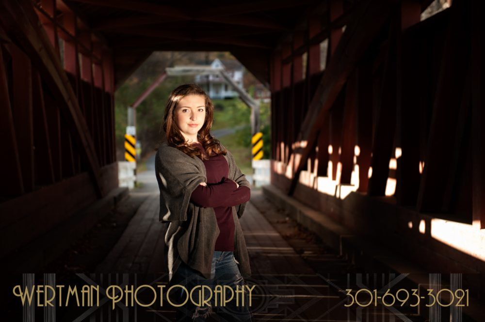 senior girl actress covered bridge
