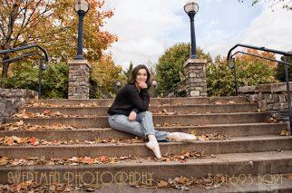 Girl sitting on steps